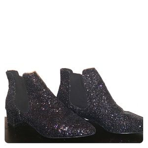 Black sparkly Chelsea boots from Topshop